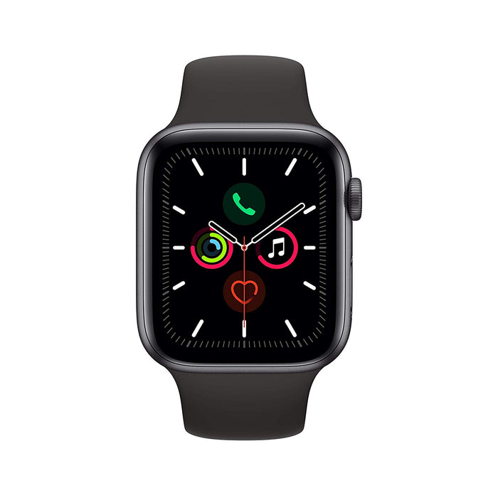 Apple Watch Series 5 GPS+LTE w/ 44MM Space Gray Aluminum Case & Black Sport Band (Refurbished)