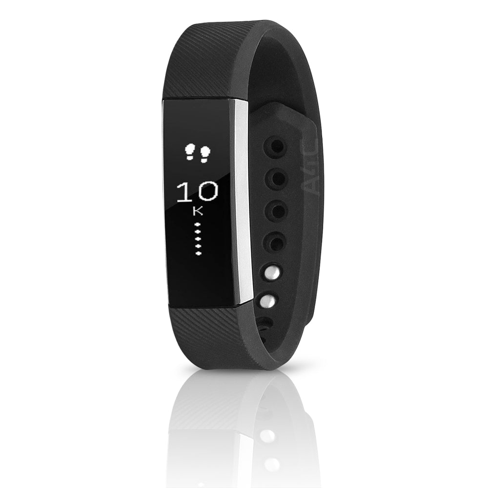 Fitbit Alta Activity Tracker Silicone Watch Black/Silver  - S (Refurbished)