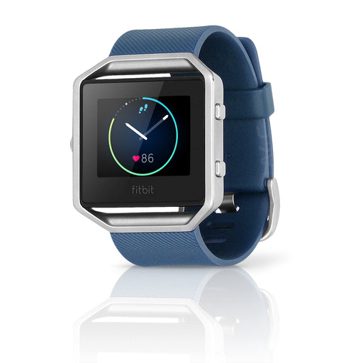 Fitbit Blaze Smart Fitness Silicone Watch, Large - Blue / Silver (Refurbished)