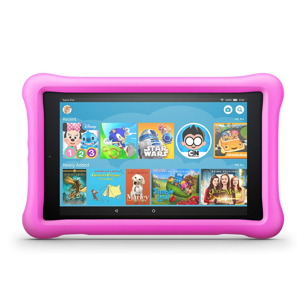 Amazon Fire HD 8, Kids Edition, 8-inch, 32GB Memory - Pink (Refurbished)