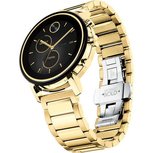 Movado Connect 2.0 Unisex Smartwatch with 42MM Gold Stainless Steel Case (Refurbished)