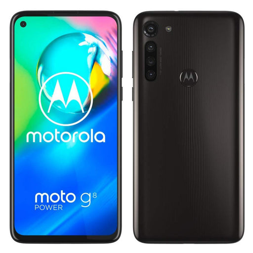 Motorola Moto G8 Power Smartphone, 64GB Memory, Unlocked Cellular - Smoke Black (Refurbished)