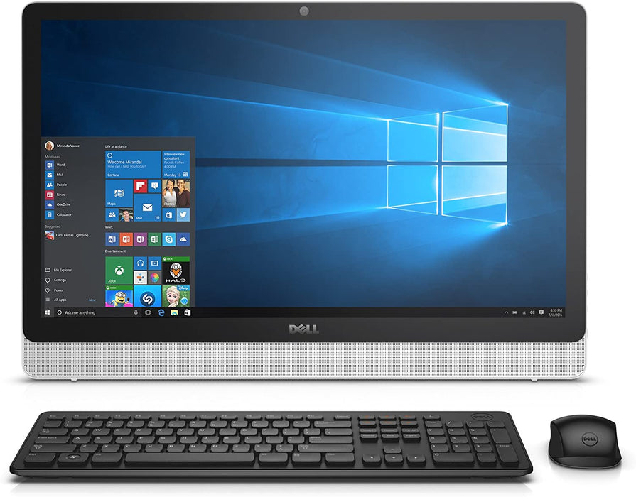 "Dell Inspiron All-in-One Desktop PC, 1TB, 23.8"", AMD A8, 8GB RAM - White (Refurbished)"