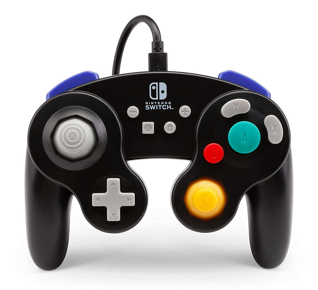 PowerA GameCube Style Wired Controller For Nintendo Switch - Black (Refurbished)