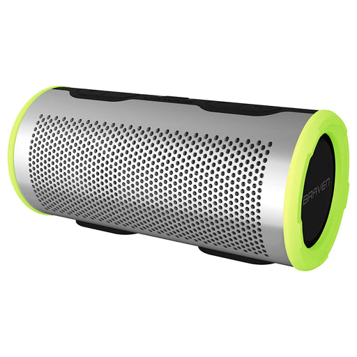Braven Stryde 360 Wireless Bluetooth Speaker - Silver / Green (Refurbished)