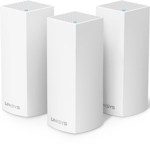 Linksys Velop Tri-Band Mesh Wi-Fi System, 3 Pack - White (Refurbished)