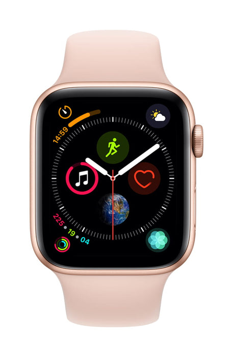 Apple Watch Series 4 GPS w/ 44MM Gold Aluminum Case & Pink Sand Sport Band (Refurbished)