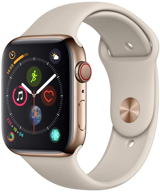 Apple Watch Series 4 GPS+LTE w/40MM Gold Stainless Steel Case & Stone Sport Band (Refurbished)