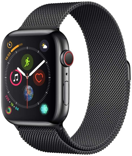 Apple Watch Series 4 GPS+LTE 44MM Space Black Stainless Case Milanese Loop Band (Certified Refurbished)