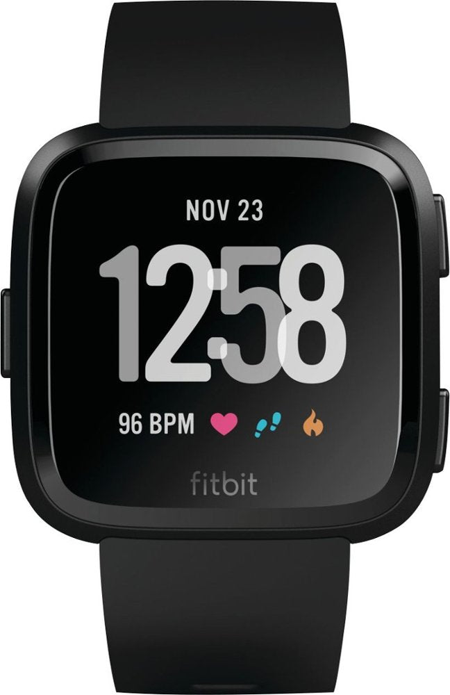 Fitbit Versa - Smart Watch with Heart Rate Monitor - Black (Refurbished)