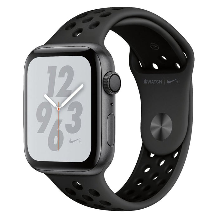 Apple Watch Series 4 Nike+ GPS w/ 44MM Space Gray Aluminum Case & Black Nike Sport Band (Certified Refurbished)