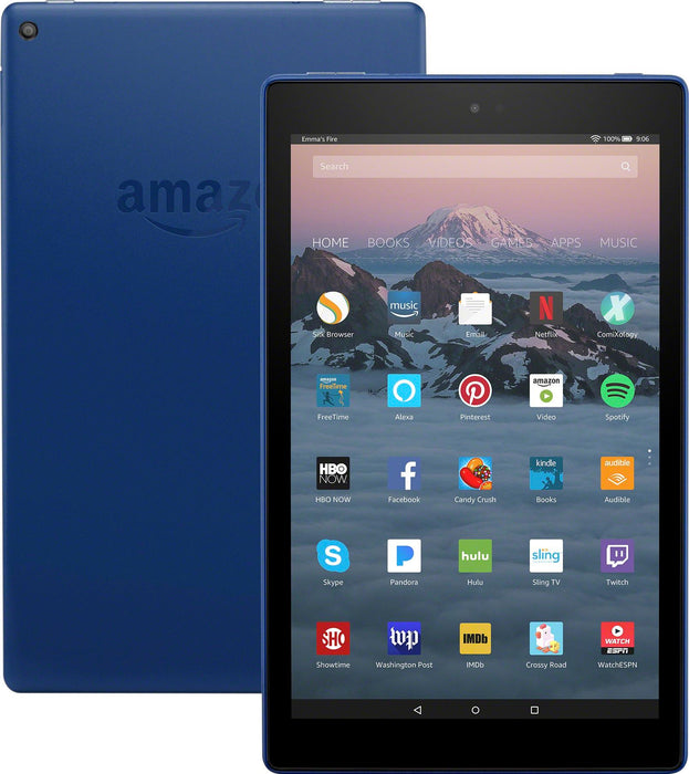 Amazon Fire HD 10 Tablet w/ Alexa Hands-Free Assistant, 32GB - Marine Blue (Pre-Owned - Scratch and Dent)