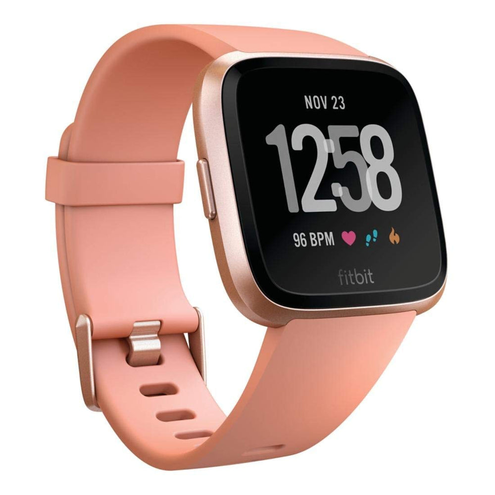 Fitbit Versa Smartwatch w/ Heart Rate Monitor - Rose Gold (Pre-Owned)