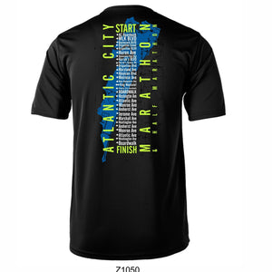 'Directions' Men's SS Tech Tee - Black - by Augusta
