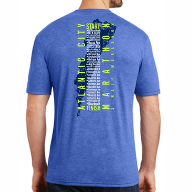 'Directions' Men's SS Tri-Blend Tee - Royal Frost - by District Made