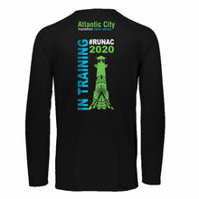 Men's LS Tech Tee - Black 'In Training 2020 Design' - Atlantic City Marathon & Half Marathon