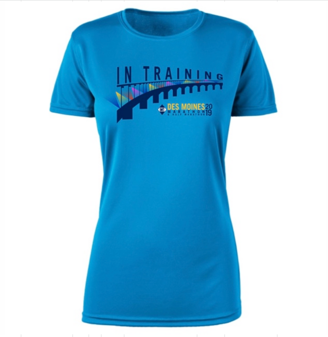 INT Des Moines Marathon Women's Tech SS In TrainingTee