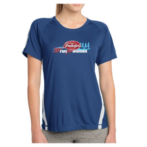 38th Annual' Women's SS Tech Tee - Royal / White - by Sport-Tek