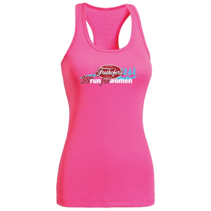 38th Annual' Women's Racerback Tech Singlet - Hot Pink