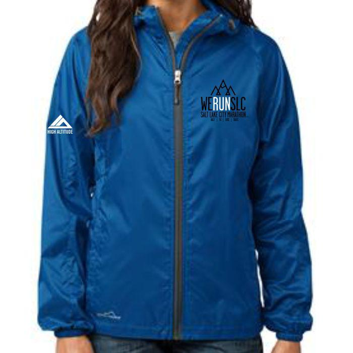 'Left Chest Embroidery' Women's Tech Jacket - Zip Brilliant Blue by Eddie Bauer