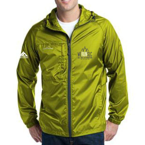 'Left Chest Embroidery' Men's Tech Zip Jacket - Pear Green by Eddie Bauer
