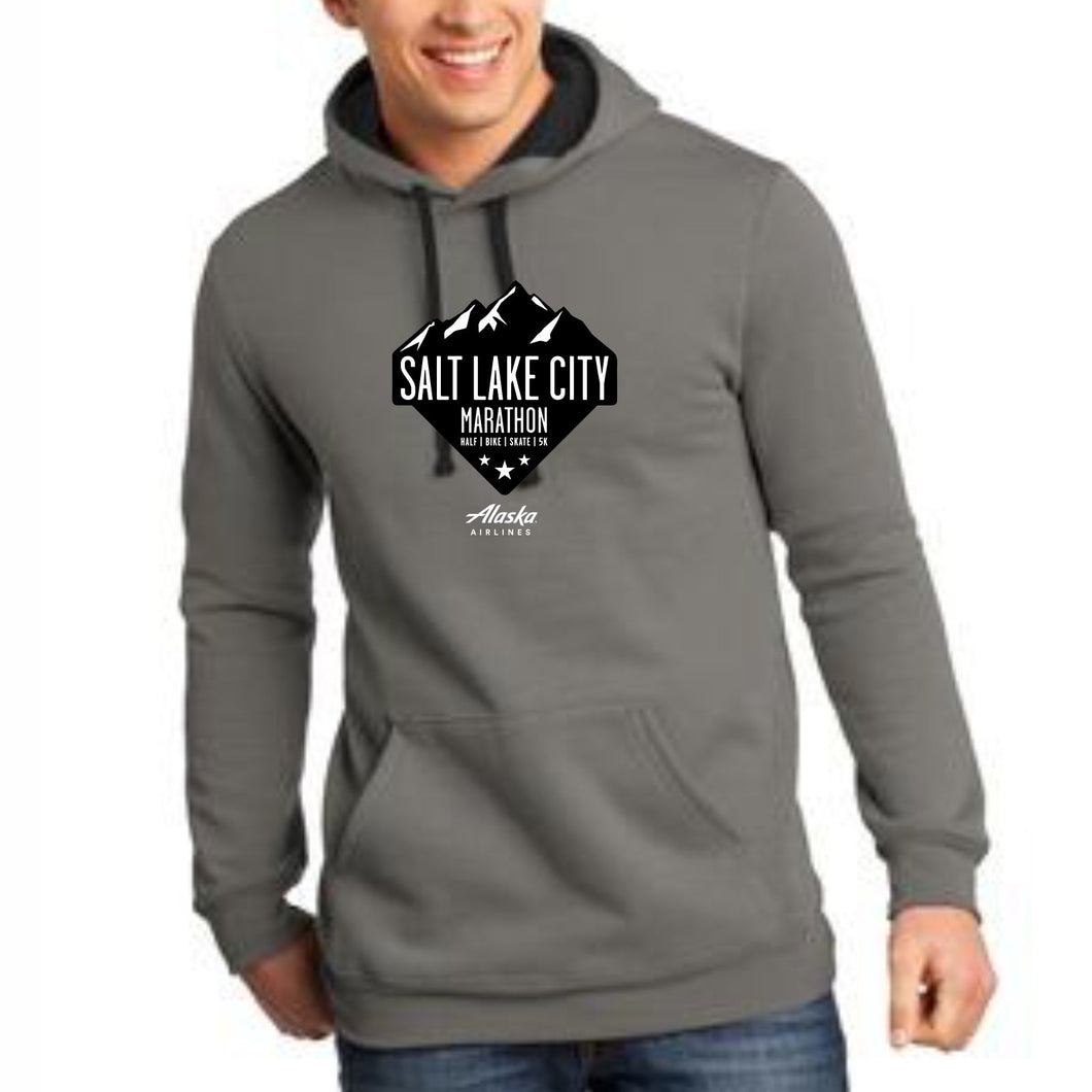 'Range' Men's Fleece Hoody - Grey
