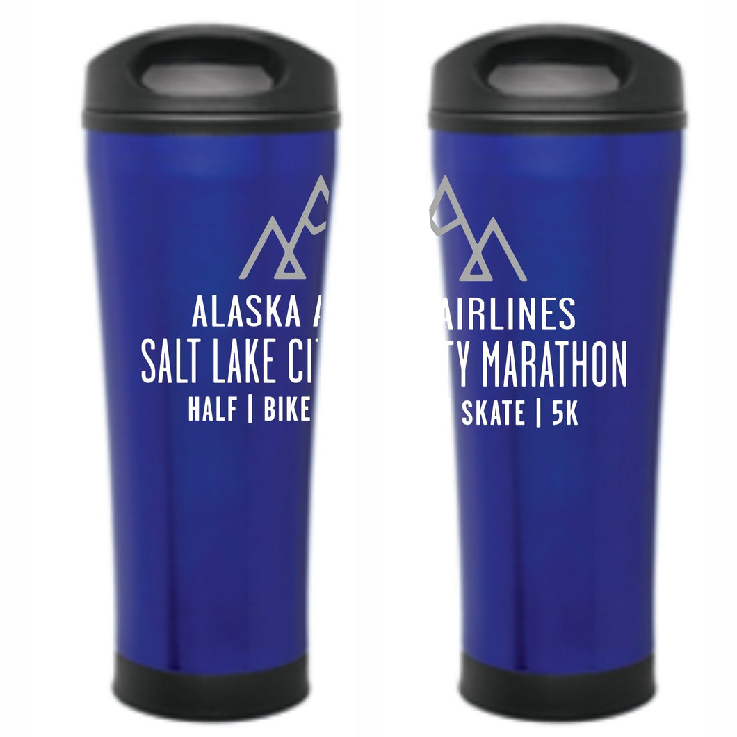 'Event Logo' Double-wall Thermal Travel Mug - Blue