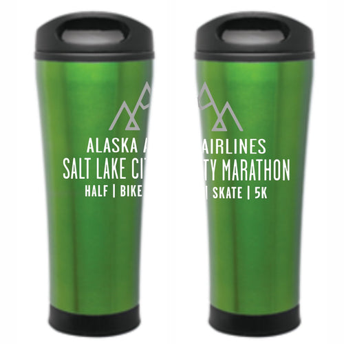 'Event Logo' Double-wall Thermal Travel Mug - Green