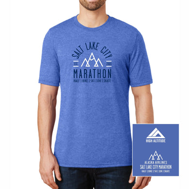 'Collegiate' Men's Tri-Blend SS Tee - Royal Frost