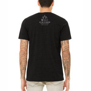 'Peaks' Men's Ring-Spun SS Tee - Heather Black