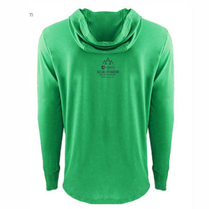 'Peaks' Adult Tri-Blend Lightweight Hoody - Envy Green