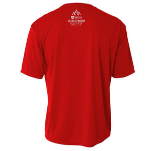'SLC' Men's Tech SS Tee - Scarlet