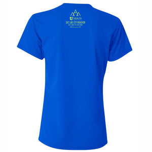 'SLC' Women's Tech SS Tee - V-Neck Royal