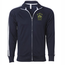 'Left Chest Print' Men's Track Zip Jacket - Classic Navy
