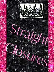 STRAIGHT/ CLOSURES (5*5)inch