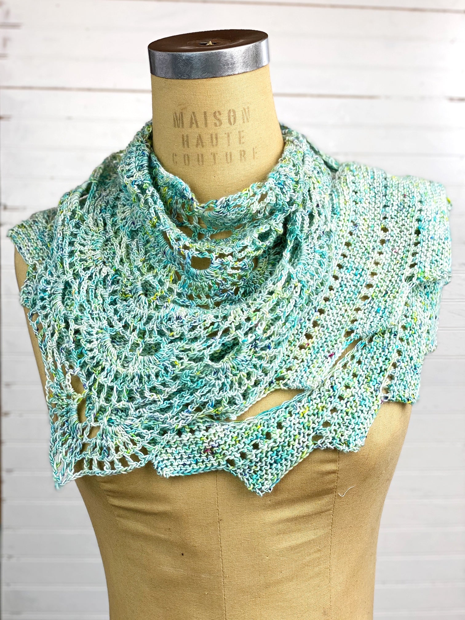 On Point Shawlette/Shawl Crochet Pattern