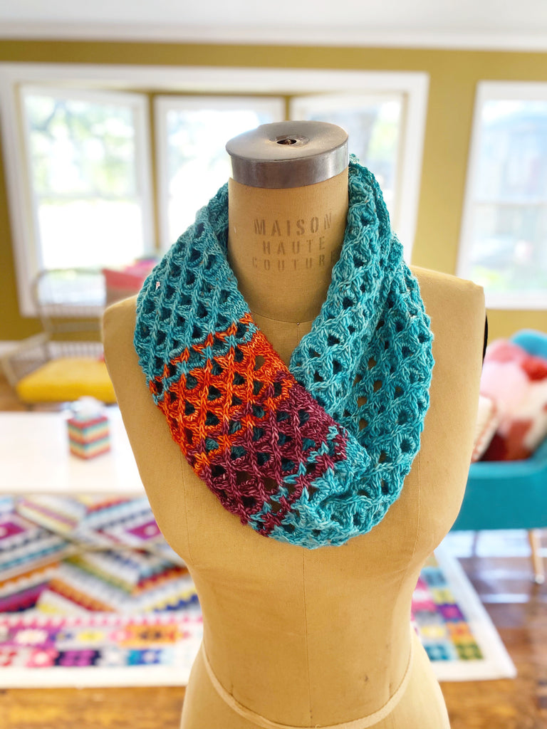 Geo Scarf Knit Pattern