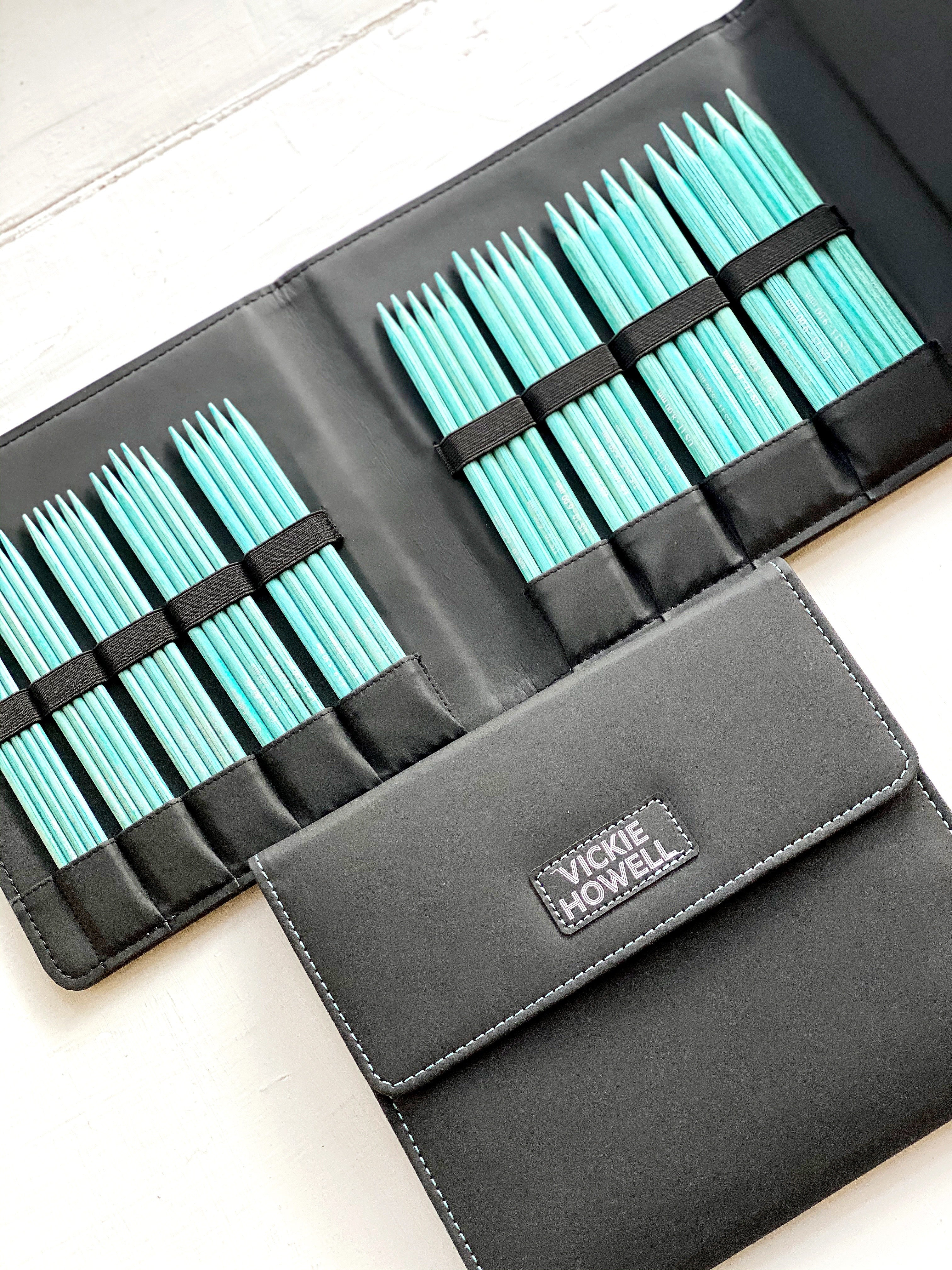 Vickie Howell Aqua Wood Double-Pointed Knitting Needle Set