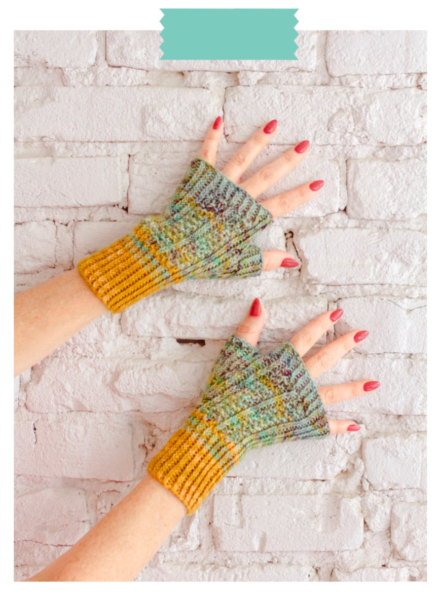 Mitts with a Twist Knit Pattern