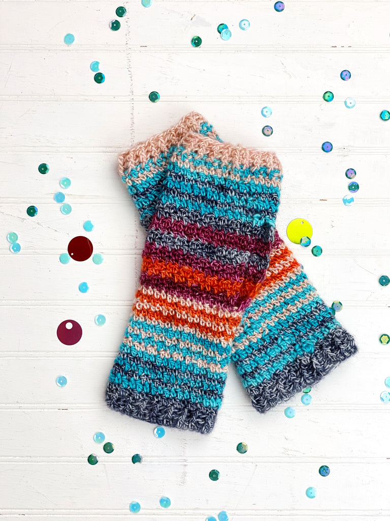 High-Five Wrist Warmers Digital Crochet Pattern