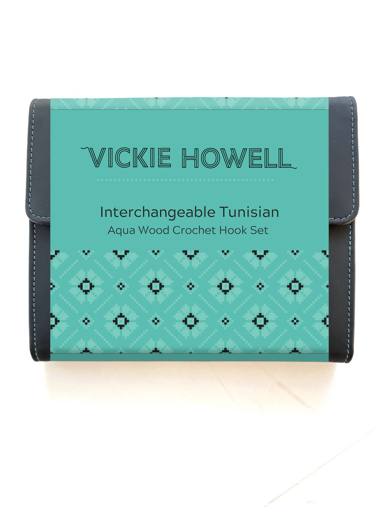 Vickie Howell Aqua Wood Interchangeable Tunisian Crochet Hook Set