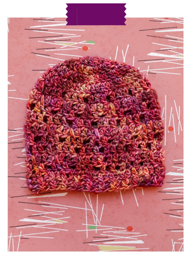 Bargello Beanie Digital Crochet Pattern