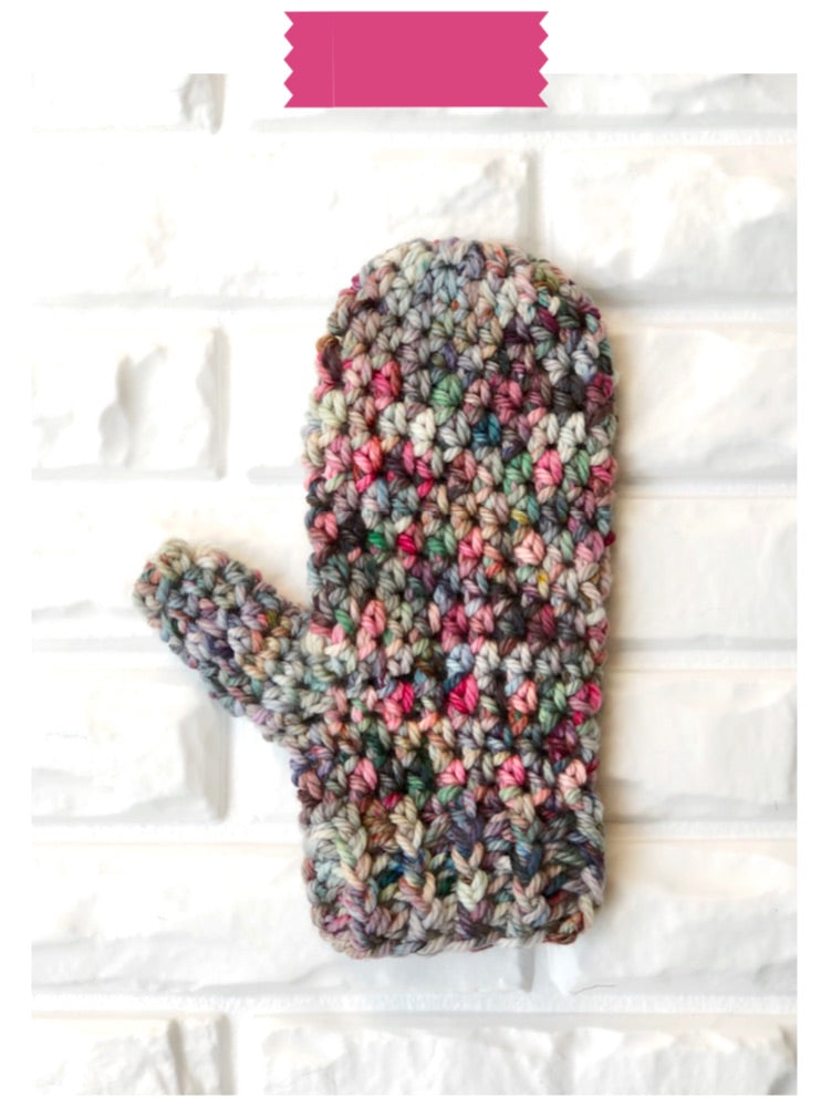 Hands-on Mittens Digital Crochet Pattern