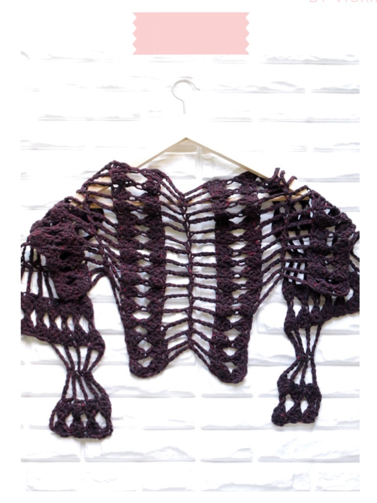 Love Triangle Shawlette Digital Crochet Pattern