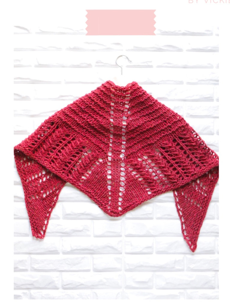 Love Triangle Shawlette Knit Pattern