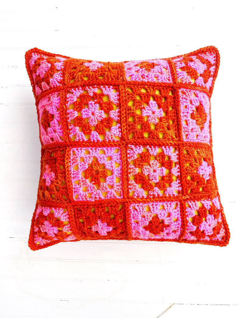 Hip Granny Pillow Crochet Pattern