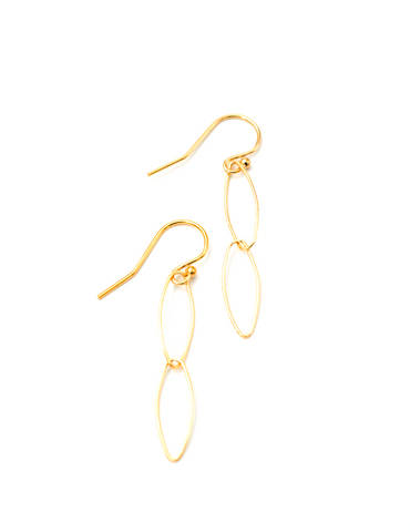 Marquis Link Earrings