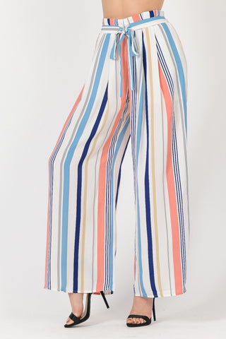 SPLASH OF COLOR PAPER BAG PANTS