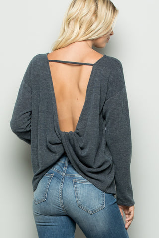 Roxanne Long Sleeve Open Back Top