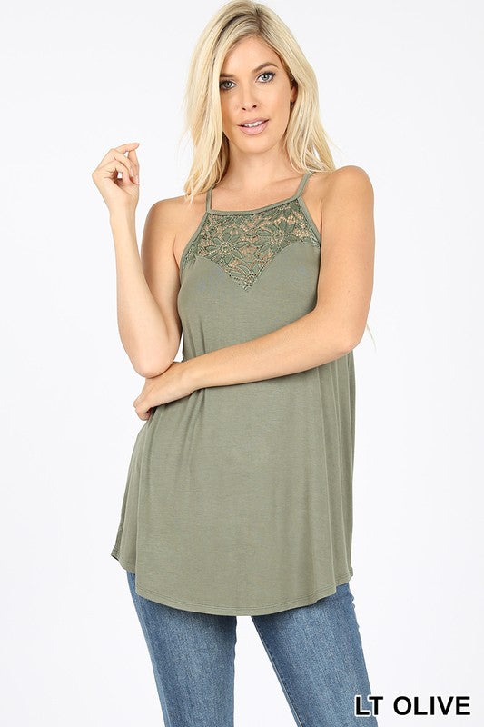 PATTI LACE PANEL HALTER